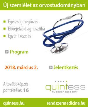 Quintess Tudásközpont Orvostovábbképzés 2018. I. félév: március 2.